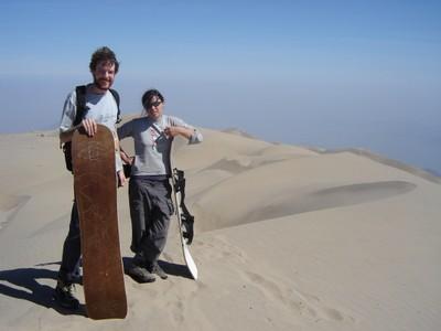 Sandboarding on Sierra Blanca
